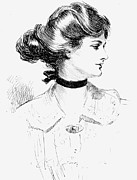 Brooch Prints - Gibson: Gibson Girl, 1905 Print by Granger