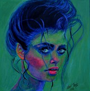 Neon Effects Painting Originals - Gibson Girl by Shirl Theis