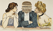 Choker Metal Prints - Gibson Girls, 1903 Metal Print by Granger