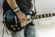 Gibson Les Paul Guitar Player Two Print by Randy Steele