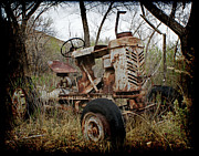 Old Tractors Photos - Gibson Tractor by Ernie Echols
