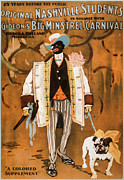African American Art Posters - Gideons Big Minstrel Carnival Poster by Marcie Adams Eastmans Studio Photography