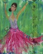 Girls Mixed Media - Gidget Comes Alive by Laura K Aiken