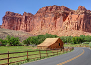 Pioneer Park Prints - Gifford Homestead Barn - Capitol Reef National Park Print by Gary Whitton