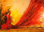 Gypsy Mixed Media - Gift of Fire by Debora Cardaci