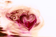 Abstract Hearts Digital Art - Gift of Love by Linda Sannuti