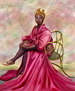 African American Women Paintings - Gifted And Black-No Longer Looking Back by Reggie Duffie