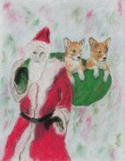 Corgi Drawings - Gifts Of Joy by Cori Solomon