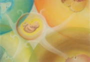Gifts Pastels Originals - Gifts of the Four Elements by Saskia Symens