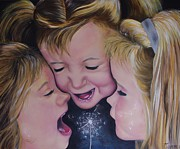 Giggling Paintings - Giggly girls by Tammy Gillam