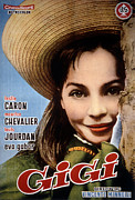 Caron Framed Prints - Gigi, Leslie Caron, 1958, Poster Art Framed Print by Everett
