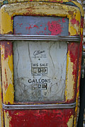 Gallons Prints - Gilbarco petrol pump Print by Camera Rustica Bill Kerr