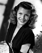 1946 Movies Prints - Gilda, Rita Hayworth, 1946 Print by Everett
