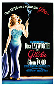 Strapless Dress Framed Prints - Gilda, Rita Hayworth Poster Art, 1946 Framed Print by Everett