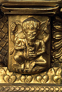 Verticals Prints - Gilded Ganesh - Swayambu Temple Nepal Print by Craig Lovell