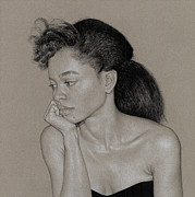 Grey Drawings Acrylic Prints - Gillian 1 Acrylic Print by David Kleinsasser