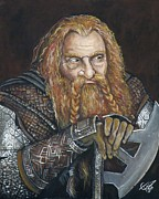 Medival Framed Prints - Gimli Framed Print by Tom Carlton