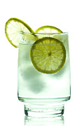 Frozen Drink Prints - Gin and Tonic Print by Gert Lavsen