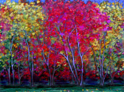 Fall Scenes Paintings - Ginella Maples by Astrid Paustian