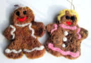 Holiday Tapestries - Textiles - Ginger friends by Kimberly Simon