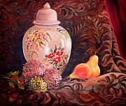 Nita Leger Casey - Ginger Jar And Flowers