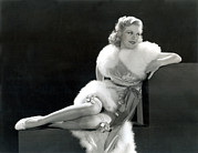 White Fur Framed Prints - Ginger Rogers, 1934 Framed Print by Everett