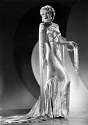Gold Lame Photo Prints - Ginger Rogers, Ca. 1930s Print by Everett