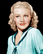 Ginger Rogers Framed Prints - Ginger Rogers In Rko Publicity Framed Print by Everett