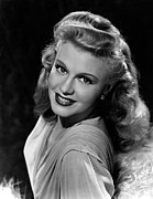 Ginger Rogers Framed Prints - Ginger Rogers, Portrait, C.1945 Framed Print by Everett