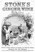 Basket Head Framed Prints - Ginger Wine Advertisement Framed Print by Granger