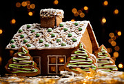 Frosting Prints - Gingerbread house Print by Kati Molin