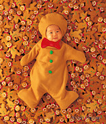 Cookies Posters - Gingerbreads Poster by Anne Geddes