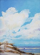 Key West Paintings - Gingers Beach by John Moon