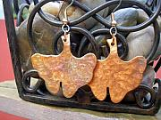 Handcrafted Jewelry - Ginko Leaves by Angie DElia