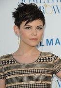 Gold Earrings Photos - Ginnifer Goodwin At Arrivals by Everett