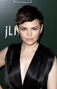 Beverly Hilton Hotel Posters - Ginnifer Goodwin At Arrivals For 13th Poster by Everett