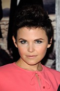 2010s Hairstyles Framed Prints - Ginnifer Goodwin At Arrivals For Big Framed Print by Everett