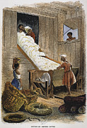 Cotton Gin Posters - Ginning Cotton Poster by Granger