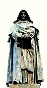 Thinker Sculpture Posters - Giordano Bruno Monument Poster by Ettore Ferrari