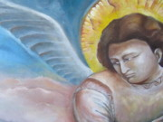 Epiphany Paintings - Giottos Angel of Epiphany by Maria Milazzo