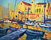 Boats Paintings - Giovinazzo by Brian Simons