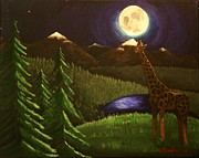 Erin Nessler - Giraffe in the moonlight
