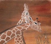 Giraffe Pastels - Giraffe by Jennifer Perry