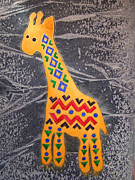 Graphics Paintings - Giraffe by Khromykh Natalia