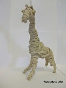 Rubber Sculptures - Giraffee by Katie-Marie OConnor