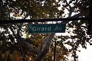 Street Sign Digital Art Posters - Girard Avenue in Philadelphia Poster by Bill Cannon