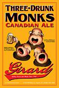 Girard Three Drunk Monks Print by John OBrien