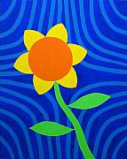 Multi-coloured Metal Prints - Girasol Metal Print by Oliver Johnston