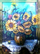 Web Gallery Painting Originals - Girasoli Bellissimi by Antonio Cariola
