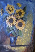 Quadro Paintings - Girasoli Per La Vita by Antonio Cariola